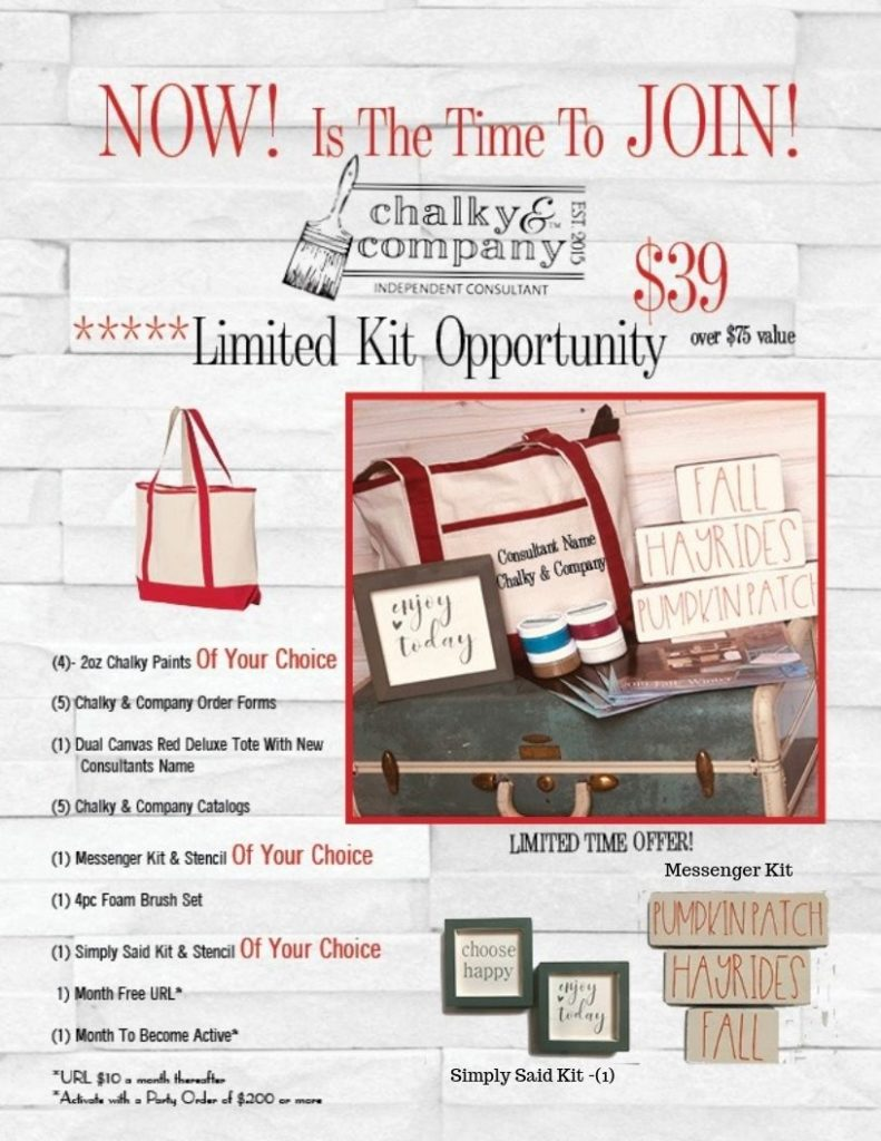When you join, you will learn all about Chalky Painting, Glazing, Waxing, and Distressing, and other tips and techniques as well as options for Chalky Painting Furniture!