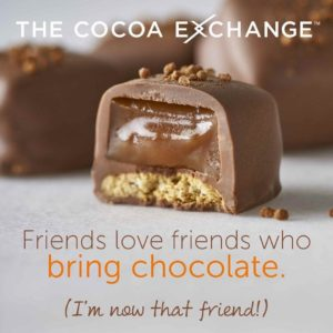 Cocoa Exchange is a gourmet food company under the Mars umbrella that sells delicious delectables, all made with cocoa!